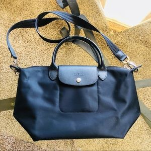 Longchamp Le Pliage Neo in Black, Size Small